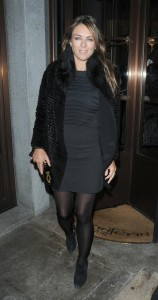 Элизабет Харли, фото 2307. Elizabeth Hurley - Out in Mayfair, London - January 18, foto 2307