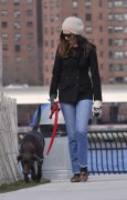Энн Хэтэуэй, фото 5956. Anne Hathaway 'Walking her dog in Brooklyn', february 5, foto 5956