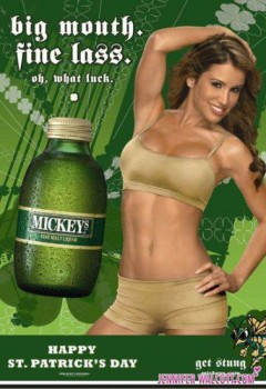 Jennifer Walcott And Her Tummy Mickey's Beer St. Patrick's Day Promo x 1