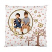 Choco Florals Fun Cushion Case - Artscow Template