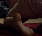 A boy and a girl fucking on the bed